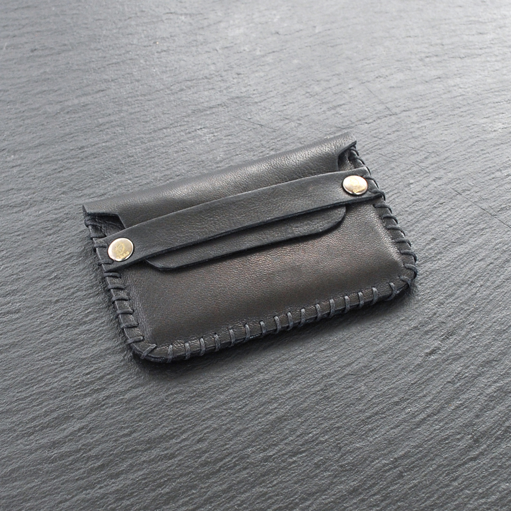 black leather cards holder