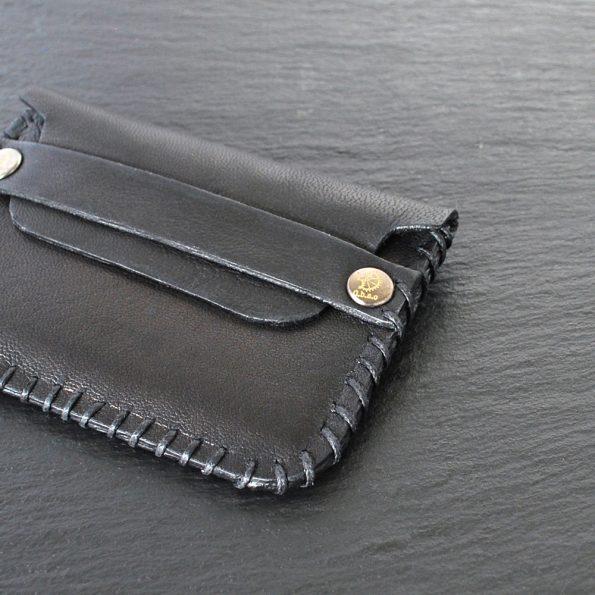 black leather cards holder