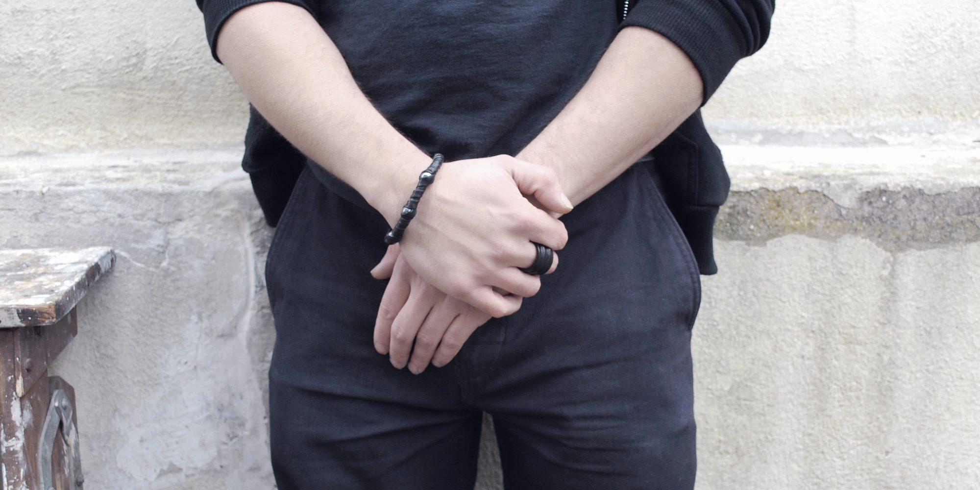TRIFORCE homme bracelet porté 1 ok
